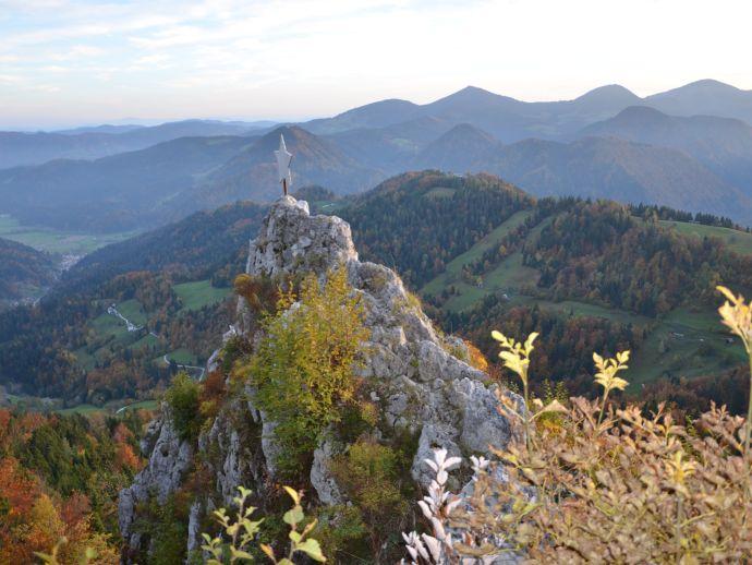 Le rocher de Biček