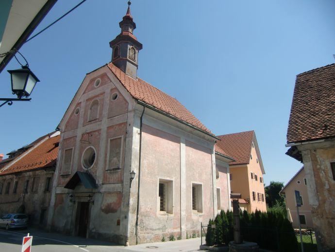 Špital et l'église Špital de Notre Dame des Peines