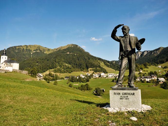 Denkmal für Ivan Grohar in Sorica