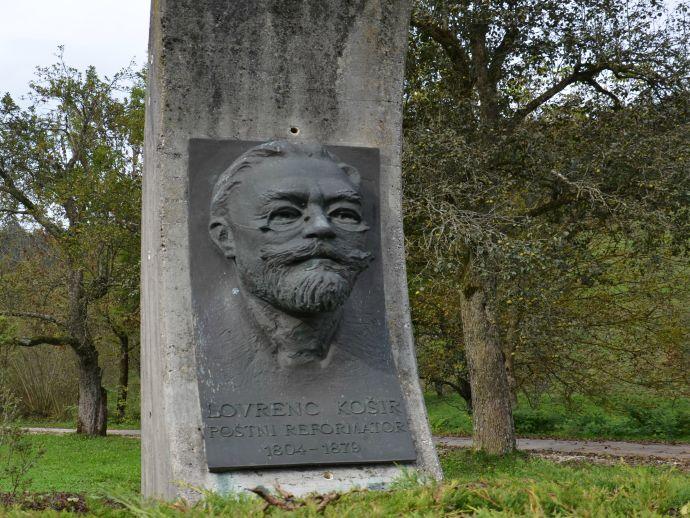 Monument to Lovrenc Košir in Luša