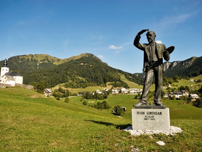 Monument to Ivan Grohar in Sorica